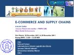 E-COMMERCE AND SUPPLY CHAINS