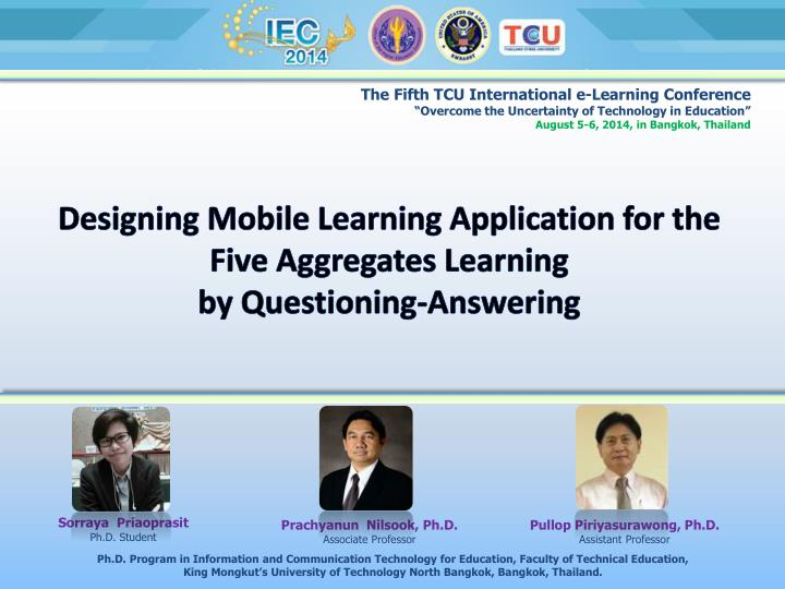 designing mobile learning application for the five aggregates learning by questioning answering n.