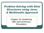 Problem Solving with Data Structures using Java:  A Multimedia Approach