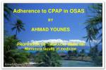 Adherence to CPAP in OSAS