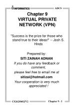 Chapter 9 VIRTUAL PRIVATE NETWORK (VPN)