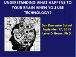 UNDERSTANDING WHAT HAPPENS TO YOUR BRAIN WHEN YOU USE TECHNOLOGY?