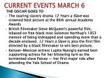 CURRENT EVENTS MARCH 6