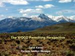 The WQCD Permitting Perspective