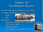 Chapter 30 The Affluent Society