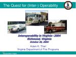 The Quest for (Inter-) Operability