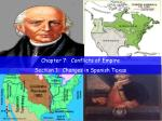 Chapter 7:  Conflicts of Empire Section 1:  Changes in Spanish Texas
