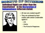 All men are created equal!!! They are endowed by their creator with certain unalienable rights!!!!