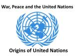 Origins of United Nations
