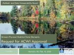Stream Physical Habitat Data Elements: Request for ACWI Approval
