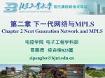 第二章 下一代网络与 MPLS Chapter 2 Next Generation Network and MPLS