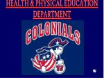 HEALTH & PHYSICAL EDUCATION DEPARTMENT