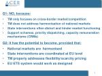 Q1: N O , because: TM only focuses on cross-border market/competition