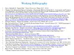 Working Bibliography