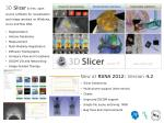 New at RSNA 2012: Version 4.2 Slicer Extensions M ultivolume support (time series) C harts