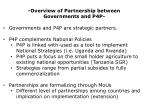 -Overview of Partnership between  Governments and P4P- Governments and P4P are strategic partners.