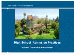 High School Admission Practices