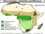 African Societies – Similarities and Differences