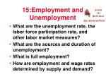 15:Employment and Unemployment