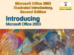 Microsoft Office 2003  Illustrated Introductory,  Second Edition