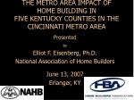 THE METRO AREA IMPACT OF HOME BUILDING IN FIVE KENTUCKY COUNTIES IN THE CINCINNATI METRO AREA