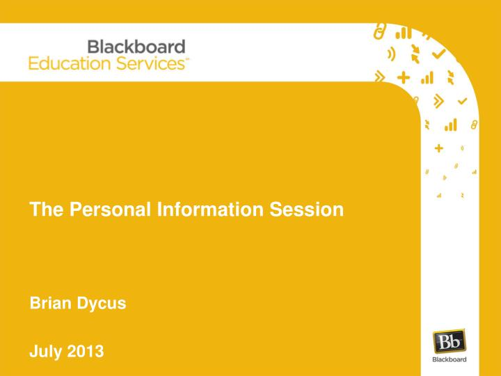 the personal information session n.