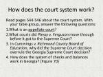 How does the court  system work?