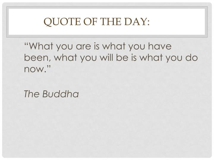 quote of the day n.