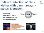 Indirect detection of Dark Matter with gamma-rays - status & outlook