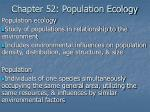 Chapter 52: Population Ecology