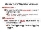 Literary Terms/ Figurative Language