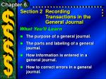 Section 2Recording Transactions in the General Journal