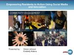 Empowering Residents to Action Using Social Media and Innovation