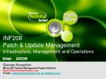 INF208 Patch & Update Management Infrastructure, Management and Operations