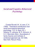 Social and Cognitive-Behavioral Psychology