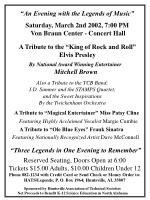 """""""An Evening with the Legends of Music"""""""