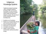 Indigenous Knowledge Systems