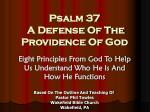 Psalm 37 A Defense Of The Providence Of God