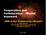 Cooperation and Collaboration – beyond buzzword