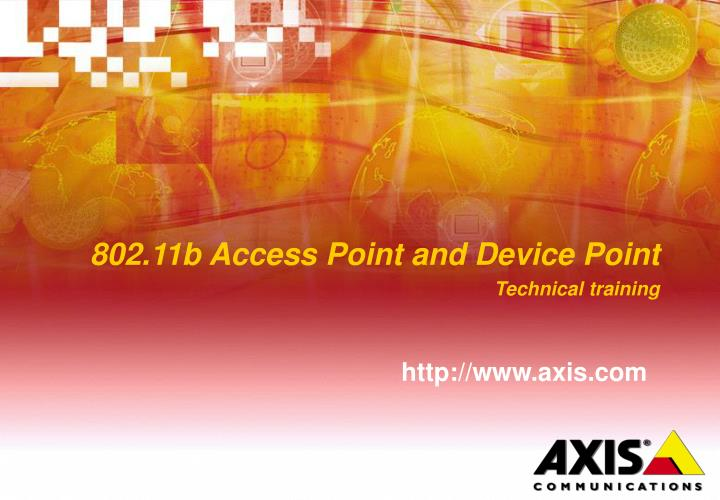 802 11b access point and device point technical training n.