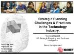 Strategic Planning Challenges & Practices  in the Technology Industry.