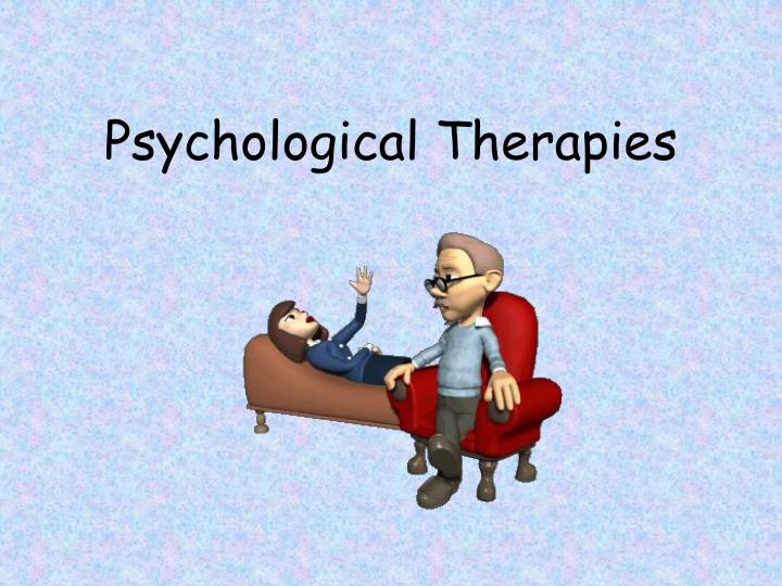 psychological therapies n.