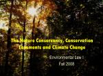The Nature Conservancy, Conservation Easements and Climate Change