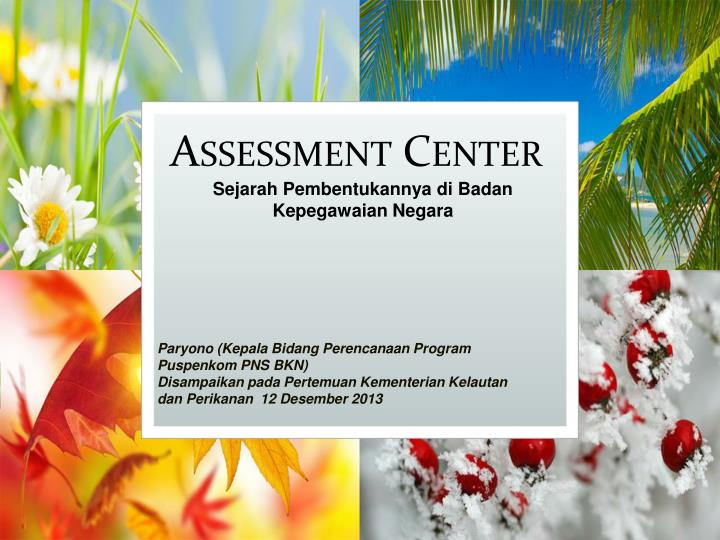 assessment center n.