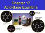 Chapter 17 Acid-Base Equilibria