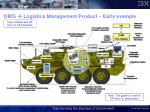 OBIS   Logistics Management Product – Early example
