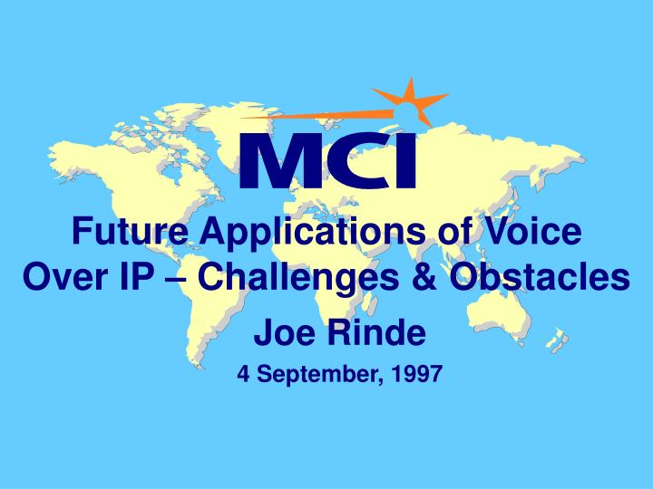 future applications of voice over ip challenges obstacles n.
