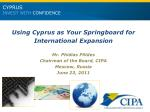 CYPRUS INVEST WITH  CONFIDENCE