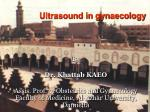 Ultrasound in gynaecology