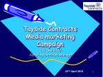 Tayside Contracts Media marketing Campaign